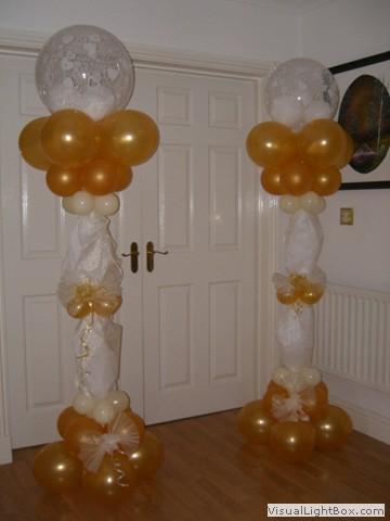 Balloon decoration ideas columns and arches for Balloon column decoration