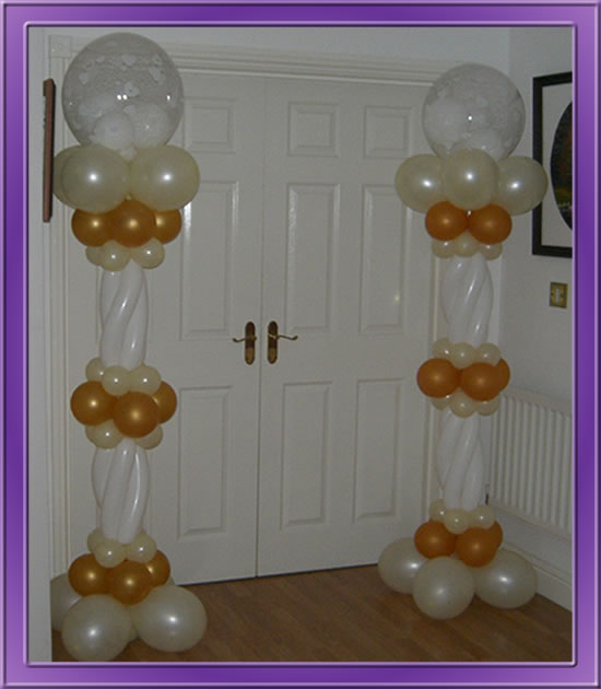 Wedding Balloon Decoration - Gold Archway